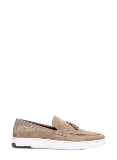 George Hogg George Hogg 7003702 Süet Kum Rengi Erkek Loafer Erkek Ayakkabı Sarı